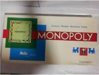 Vintage 1961 Monopoly by Parker Brothers Board Game COMPLETE