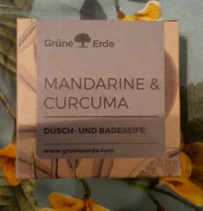 Grüne Erde Mandarine & Curcuma Dusch- & Badeseife neu 80g vegan festes Duschgel