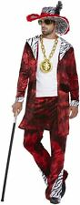 Men's Adult 70s Gangster Big Daddy with Dollar Medallion Fancy Dress Costume