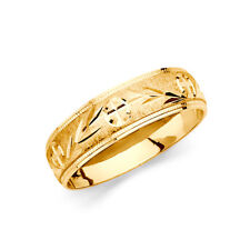 Anniversary Wedding Engagement Bridal Ring Band Men 14k Yellow Gold Dia. Cut