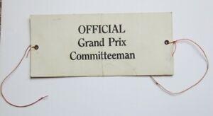 1950's Watkins Glen Grand Prix official Committeeman armband