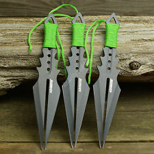 "3 Pc 7 1/2"" Ninja Tactical Zombie Hunter Combat Throwing Knife Set With Sheath"