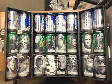 1999 STAR WARS PHANTOM MENACE - EXCLUSIVE PEPSI CAN SET AND DISPLAY CASE - NEW