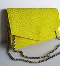 62fb78bd9f Beautiful NWT Emily Cho Embossed Yellow Leather Shoulder Bag/ Clutch.