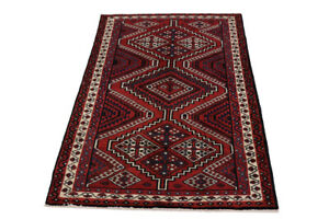 Tribal Hand-Knotted Large 6X9 Vintage Wool Oriental Rug Farmhouse Decor Carpet