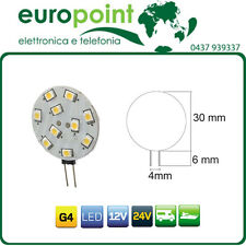 5 x Lampada LED G4 bispina 12V 24V luce naturale 4500K ideale per camper e baite