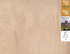 "Charles Craft ~ Tea-Dyed 28 Ct Irish Linen Fabric Cloth 20"" x 24"" #IL-9287-6147"