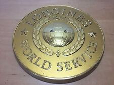 Very rare Vintage Placa Plaque LONGINES 1867 - World Service - Golden Plastic