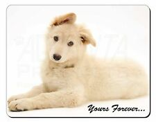 White German Shepherd 'Yours Forever' Computer Mouse Mat Christmas Gift, AD-GS7M