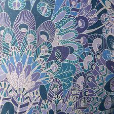 """42 cm x 1.37 m LIBERTY PRINTS Lawn 'Eben """"robe de coton artisanat tissu Blues Violet"""
