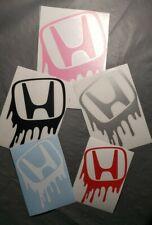 Drip Graffiti Honda Logo Vinyl Decal Sticker For CIVIC ACCORD CRV VTEC SI S2000