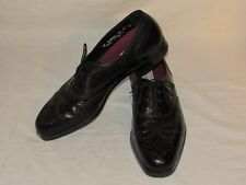 FLORSHEIM Wingtip Black Size 14 Lace Up Oxford COMFORT CUSHION Made in USA