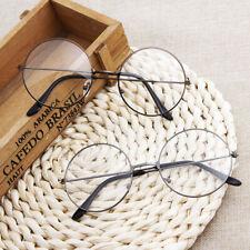 Round Plain Clear Glasses Ultra Light VL Spectacle Optical Prescription