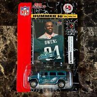 Terrell Owens Philadelphia Eagles Fleer Ultra Card /w Die-Cast Eagles Hummer H2