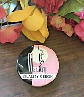 c.1960's MCM VTG MERCURY Quality Typewriter Ribbon Tin Pink+Black SCARCE Color