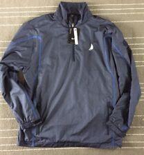 Nike Men's Water Resistant Quarter Zip Golf Pullover. Medium Blue 393870