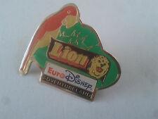 PIN'S PINS  LION Euro Disney Adventure land PIN + attache
