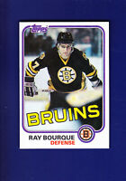 Ray Bourque HOF 1981-82 Topps Hockey #5 (NM+) Boston Bruins