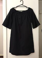 Sussan GORGEOUS Black Off the Shoulders Cotton Dress Size 8 BNWT RRP $129