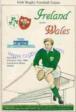 IRELAND v WALES 1986 RUGBY PROG & DVD SET, GREAT WIN FOR WALES