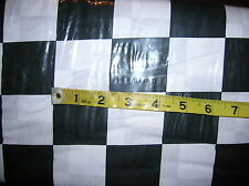 "Nascar-Finish Line Flag-100% Cotton Fabric-Black/White 2"" Check-BTY"