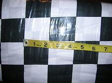 "Nascar-Finish Line Flag-100% Cotton Fabric-Black/White 2"" Check-BTY"