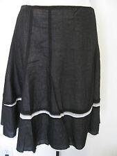 CYNTHIA CYNTHIA STEFFE Black And White Double Layer Cotton Skirt Size 10