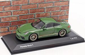 Porsche 991 coupé verte ''Porsche Werk 1'' - Minichamps Porsche