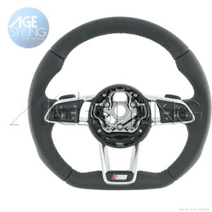 OEM Audi TT TTS R8 Quattro S-Line S-Tronic Multimedia Flat Bottom Steering Wheel