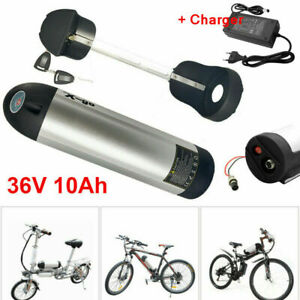 36V 10Ah Lithium Batterie Fahrradakku Ladegerät für 250-350W 500W Elektrofahrrad