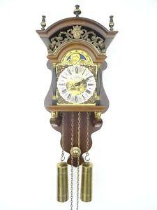 Dutch Warmink Wuba Sallander Vintage Wall Clock Moonphase 8 day (Friesian era)