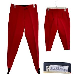 Vintage Marshall Field & Company Red Stirrup Pants Made in Italy Sz 12 / T