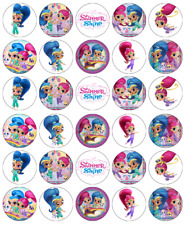 x 30 Shimmer and Shine Cupcake Toppers Edible Wafer Paper Fairy Cake Toppers