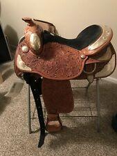 """Tex Tan AQHA Silver Elite Show Saddle #081586-3u6 16"""" Regular Quarter Horse Bar"""