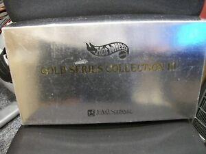 Hot Wheels FAO Schwarz Gold Series III 3 Porche BMW London Gerrari tbird Mustang