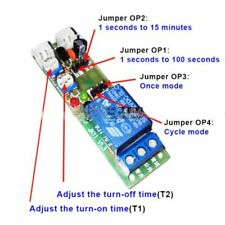 HY01 DC 12V Infinite Cycle Delay Timing Timer Relay Module ON OFF Switch Loop..