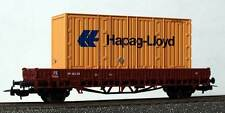 PIKO H0 - 95988/h - PIANALE CON CONTAINER HAPAG-LLOYD - FERROVIE FS Ep. III