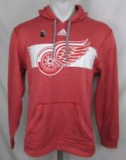 Detroit Red Wings Men's Adidas Climalite Pullover Hoodie Red S, XL