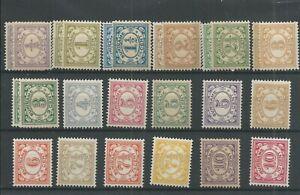 Suriname 69-86 Cijfer serie  MH/ongebr  CV 55 €