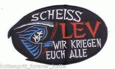 "Anti Leverkusen Aufnäher ""Scheiss Leverkus."" Kutte Weste Fan Patch Block + neu +"