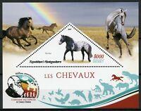 Madagascar Stamps 2019 MNH Horses Noriker Horse Wild Farm Animals 1v S/S I