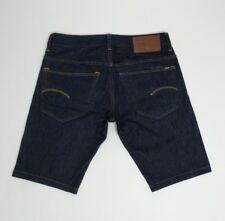 G Star Mens Jean Shorts 3301 Straight Indigo Blue W32 Holiday Beach New RRP£85