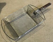 Char-Broil Stainless Shaker Grill basket w/ Rosewood Removable Handle  *RARE*