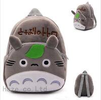 1PCS My Neighbor Totoro Soft Plush Backpack School Bag Kids Gift