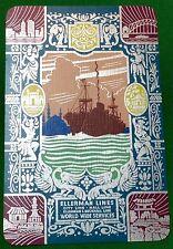 Playing Cards 1 VINT ELLERMAN /& BUCKNALL LINE ADVT S107  ART BY SILAS  ELEPHANT