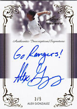 2013 LEAF TRINITY ALEX GONZALEZ RC AUTO 3/5 AUTHENTIC INSCRIPTION #DTI-AG1