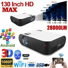 28000LM 4K 1080P HD WiFi 3D LED Bluetooth Video Theatre Projector Home Cinema