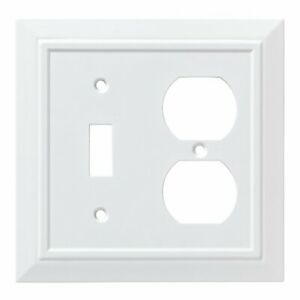W35245-PW Classic Architect Pure White Single Switch / Duplex Outlet Cover Plate