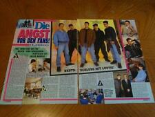 New Kids on the block teen magazine article clipping Die Anst popcorn