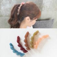 AM_ Banana Style Hair Clip Ponytail Girl Women Hairpin Headwear Accessories Sple
